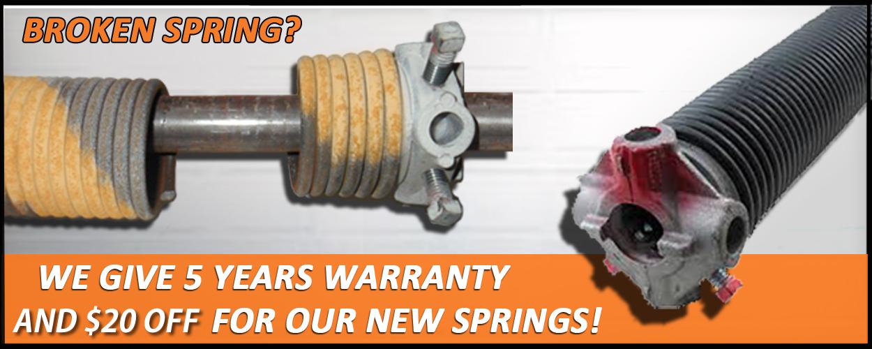 spring repair service in lincoln garage door repair